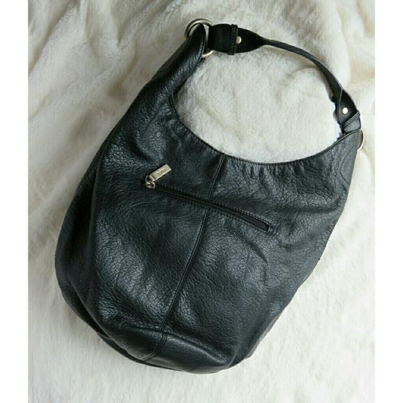 9804980bf62 HOBO Bags   Pebbled Leather Bucket Bag Party Black   Poshmark